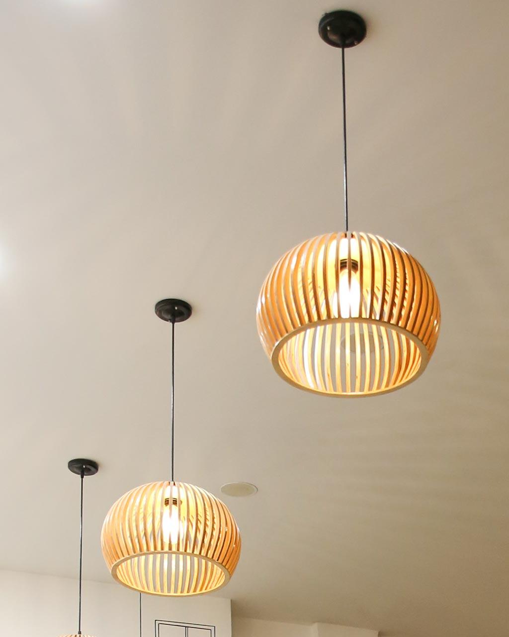 Đèn thả bằng gỗ giá rẻ cho quán cafe đẹp VIRGO DL109 • Đèn trang Trí cao  cấp Virgo
